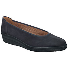 Buy Gabor Piquet Wedge Pumps, Navy Online at johnlewis.com