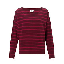 Buy Kin by John Lewis Striped Jumper, Burgundy Online at johnlewis.com