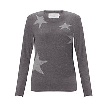 Buy Collection WEEKEND by John Lewis Falling Stars Sweater, Charcoal/Grey Online at johnlewis.com