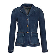 Buy Lauren by Ralph Lauren Denim Button Front Blazer Online at johnlewis.com