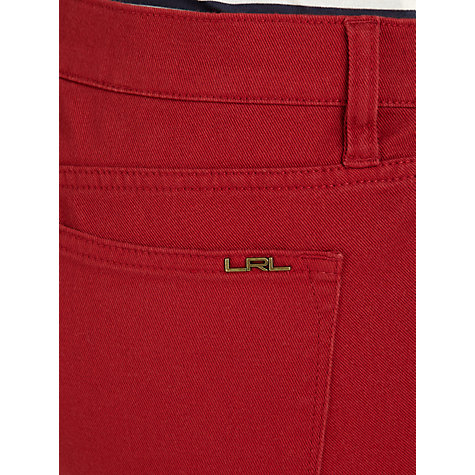 Buy Lauren by Ralph Lauren Slimming Modern Straight Leg Jeans, Admiral Red Online at johnlewis.com