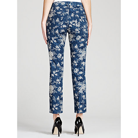 Buy Lauren by Ralph Lauren Printed Straight Cropped Jeans, Indigo/Cream Online at johnlewis.com