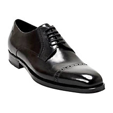 Buy Hugo Boss Claron Leather Derby Shoes, Black Online at johnlewis.com