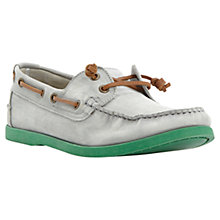 Buy Bertie Bassett Leather Boat Shoes, Mint Online at johnlewis.com