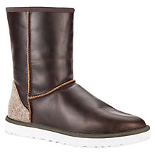 Buy UGG Classic Short Leather Boots, Stout Online at johnlewis.com