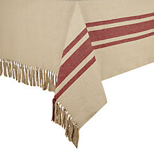 Buy John Lewis Rural Stripe Tassle Tablecloth Online at johnlewis.com