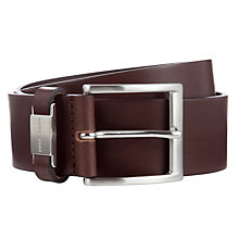 Buy Hugo Boss Connio Leather Belt, Brown Online at johnlewis.com
