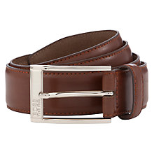 Buy Hugo Boss Estonio Leather Belt Online at johnlewis.com