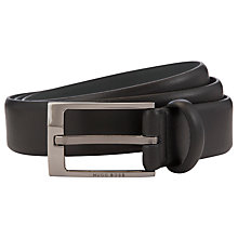Buy Hugo Boss Emerio Leather Belt, Black Online at johnlewis.com