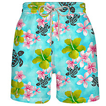 Buy Vilebrequin Moorea Floral and Turtle Print Swim Shorts Online at johnlewis.com