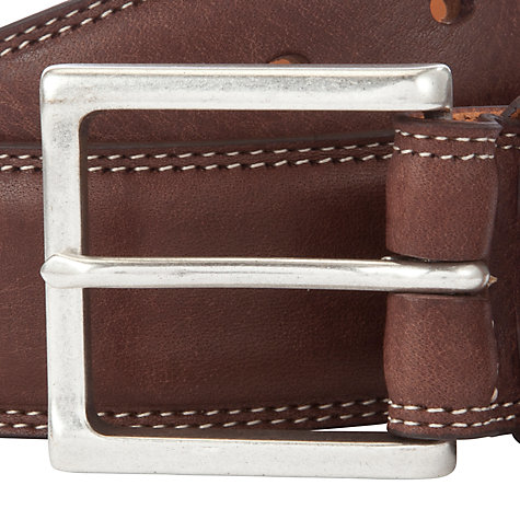 Buy Gant Wide Leather Jeans Belt Online at johnlewis.com