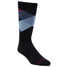Buy Tommy Hilfiger Pattern Cotton Rich Socks, Pack of 4, Blue/White/Red Online at johnlewis.com
