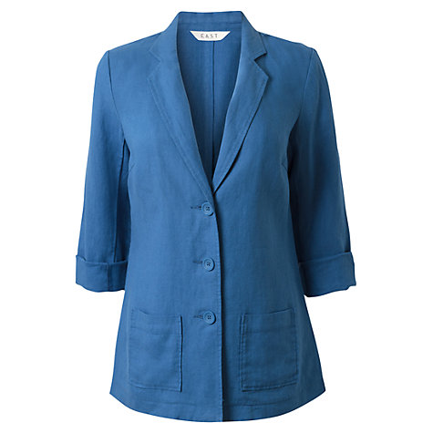 Buy East Linen Boyfriend Jacket Online at johnlewis.com