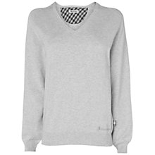 Buy Aquascutum V-Neck Golf Sweater, Grey Online at johnlewis.com