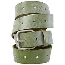 Buy White Stuff Cecilia Leather Belt, Green Online at johnlewis.com