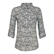 Buy Jigsaw Morris Print Shirt, Blue Online at johnlewis.com