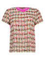 Jigsaw Tweed Top, Pink
