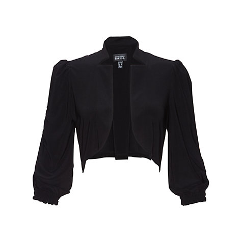 Buy Adrianna Papell Drapey Jersey Knitted Bolero, Black Online at johnlewis.com
