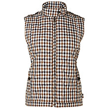 Buy Aquascutum Club Check Gilet, Vicuna Online at johnlewis.com