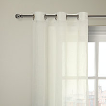 Buy John Lewis Ladderstitch Voile Eyelet Panel, White Online at johnlewis.com