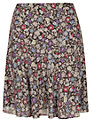 Jigsaw Floral Skirt, Black