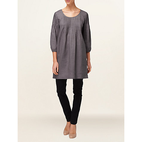Buy Phase Eight Sarah Pintuck Dress, Charcoal Online at johnlewis.com