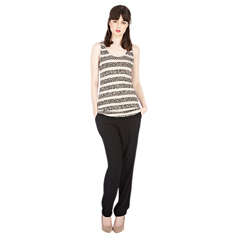 Buy Oasis Satin Trim Vest Top, Natural Online at johnlewis.com