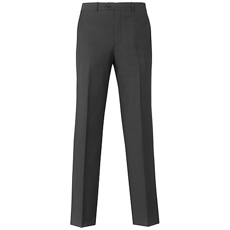 Buy Aquascutum Cameron Superfine Trousers, Charcoal Online at johnlewis.com
