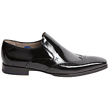 Buy Oliver Sweeney Bacton Hi-Shine Leather Brogue Slip On Shoes Online at johnlewis.com