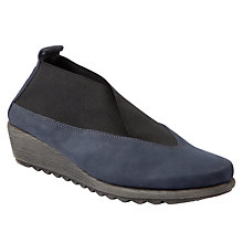 Buy John Lewis Designed for Comfort Sparrow Slip-On Wedged Shoes, Navy Online at johnlewis.com