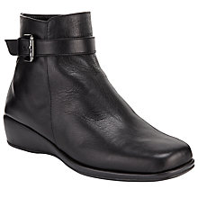 Buy John Lewis Designed for Comfort Kestrel Wide Ankle Boots, Black Online at johnlewis.com