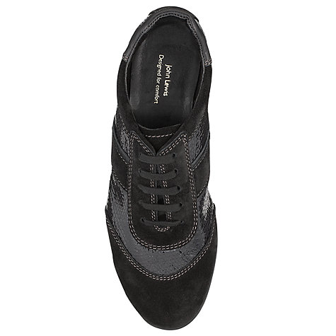 Buy John Lewis Designed for Comfort Rook Trainers, Black Online at johnlewis.com