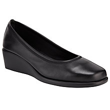 Buy John Lewis Designed for Comfort Falcon Wide Heeled Slip-On, Black Online at johnlewis.com