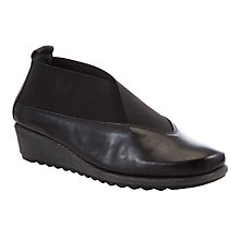 Buy John Lewis Designed for Comfort Sparrow Leather Court Shoes, Black Online at johnlewis.com