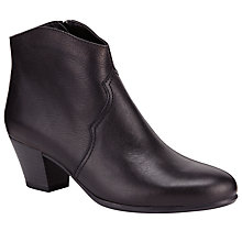 Buy John Lewis Designed for Comfort Heeled Ankle Boots, Black Online at johnlewis.com