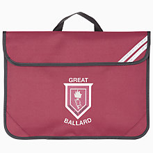 Buy Great Ballard School Unisex Book Bag, Maroon Online at johnlewis.com