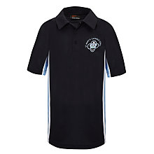 Buy St Mary's Catholic School Unisex Polo Shirt, Navy Blue/Sky Blue Online at johnlewis.com