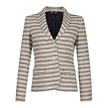 Buy Jigsaw Textured Striped Jacket Online at johnlewis.com