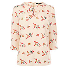 Buy Oasis Long Sleeve Bird Top, Multi Online at johnlewis.com