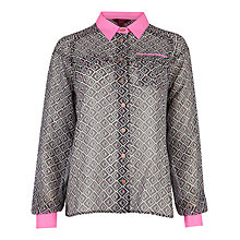 Buy Ted Baker Pocket Detail Geometric Shirt, Grey Online at johnlewis.com
