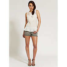 Buy Mint Velvet Lace Yoke Shell Top, Ivory Online at johnlewis.com