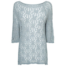 Buy Phase Eight Wendy Wavy Jumper, Ice Blue Online at johnlewis.com