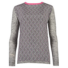 Buy Ted Baker Amberly Geo Print Jumper, Grey Online at johnlewis.com