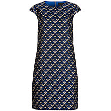 Buy Ted Baker Geanna Geo Jacquard Dress, Purple Online at johnlewis.com