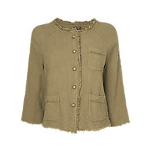 Buy Phase Eight Made in Italy Irene Jacket, Desert Green Online at johnlewis.com