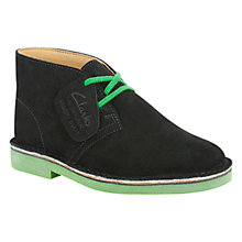 Buy Clarks Combi Corduroy Desert Boots, Black Online at johnlewis.com