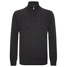 Buy John Lewis Made in Italy Merino Cashmere 1/2 Zip Jumper Online at johnlewis.com