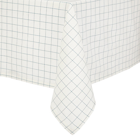 Buy John Lewis Rural Check Tablecloth, Cream/ green Online at johnlewis.com