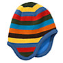 Buy John Lewis Boy Multi Stripe Trapper Hat, Blue/Multi Online at johnlewis.com