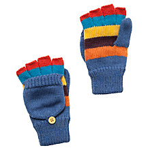 Buy John Lewis Boy Striped Flip-Top Gloves, Blue/Multi Online at johnlewis.com
